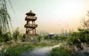 建筑园林效果 2 9 建筑园林效果 建筑壁纸