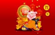 2007新年壁纸 猪年壁纸 节日壁纸