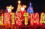 璀璨圣诞夜壁纸迪士尼乐园圣诞节夜景壁纸 节日壁纸