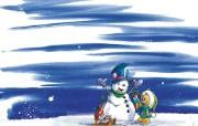 德国老鼠过圣诞节diddl 圣诞插画作品 节日壁纸