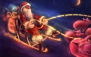 俄罗斯圣诞插画壁纸 节日壁纸