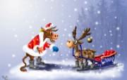 俄罗斯圣诞插画壁纸 俄罗斯圣诞插画壁纸 节日壁纸