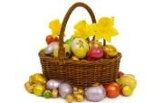 复活蛋 复活节彩蛋篮子壁纸 复活节壁纸 彩蛋与装饰 节日壁纸