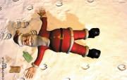 搞笑圣诞老人壁纸 节日壁纸