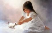 金色童年 法国画家 Donald Zolan 儿童水彩画集 一 儿童节壁纸 天使小女孩绘画壁纸 金色童年儿童水彩画集一 节日壁纸