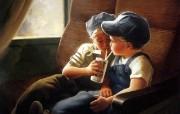 金色童年 法国画家 Donald Zolan 儿童水彩画集 一 小小工程师 可爱小男孩手绘图片 金色童年儿童水彩画集一 节日壁纸