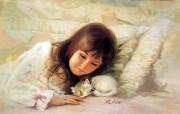 金色童年 法国画家 Donald Zolan 儿童水彩画集 一 温馨时刻 儿童节图片儿童水彩画壁纸 金色童年儿童水彩画集一 节日壁纸
