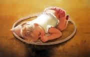 金色童年 法国画家 Donald Zolan 儿童水彩画集 一 白日梦 睡着的宝宝壁纸 金色童年儿童水彩画集一 节日壁纸