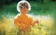 金色童年 法国画家 Donald Zolan 儿童水彩画集 一 Donald Zolan 儿童绘画壁纸 金色童年儿童水彩画集一 节日壁纸