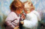 金色童年 法国画家 Donald Zolan 儿童水彩画集 一 小小宝物 可爱儿童绘画壁纸 金色童年儿童水彩画集一 节日壁纸