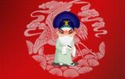 卡通京剧人物壁纸 卡通京剧人物壁纸 节日壁纸