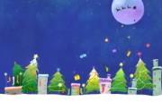 可爱温馨圣诞插画壁纸 圣诞夜壁纸 可爱温馨圣诞壁纸 节日壁纸