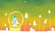 可爱温馨圣诞插画壁纸 雪人音乐盒壁纸 可爱温馨圣诞壁纸 节日壁纸