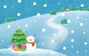 可爱温馨圣诞插画壁纸 雪人插画壁纸 可爱温馨圣诞壁纸 节日壁纸