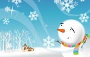 可爱温馨圣诞插画壁纸 圣诞雪人壁纸 可爱温馨圣诞壁纸 节日壁纸