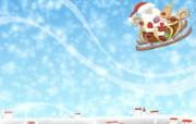 可爱温馨圣诞插画壁纸 圣诞雪橇壁纸 可爱温馨圣诞壁纸 节日壁纸