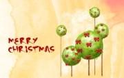 可爱温馨圣诞插画壁纸 可爱圣诞树壁纸 可爱温馨圣诞壁纸 节日壁纸