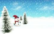 可爱温馨圣诞插画壁纸 圣诞节雪人壁纸 可爱温馨圣诞壁纸 节日壁纸
