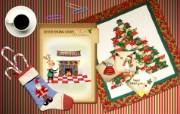 可爱温馨圣诞插画壁纸 圣诞节插画壁纸 可爱温馨圣诞壁纸 节日壁纸