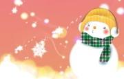 可爱温馨圣诞插画壁纸 雪人桌面壁纸 可爱温馨圣诞壁纸 节日壁纸