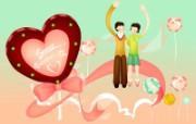 浪漫情人节 矢量高清壁纸 节日壁纸