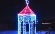 浪漫圣诞夜壁纸圣诞节夜景街道二 节日壁纸