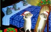 老鼠过圣诞壁纸 节日壁纸