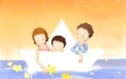 母亲节 幸福家韩国插画 节日壁纸