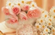 情人节壁纸情人节浪漫鲜花桌面 节日壁纸