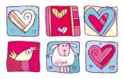 情人节创意爱心壁纸 情人节创意爱心壁纸 节日壁纸