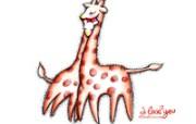 情人节主题 长颈鹿情侣 情人节手绘卡通壁纸 情人节卡通插画 节日壁纸