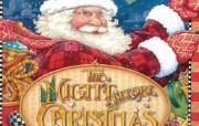 圣诞节壁纸《The Night Before Christmas》圣诞故事绘本 节日壁纸