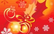 圣诞节抽象背景 圣诞节简约线条图案 圣诞节简约矢量背景 节日壁纸
