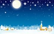 圣诞节主题插画设计 节日壁纸