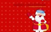圣诞卡通壁纸Cyber Santa 节日壁纸