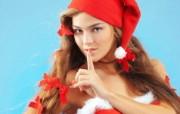 圣诞时尚美女 圣诞美女图片 圣诞模特圣诞美女高清壁纸 节日壁纸