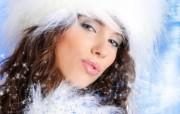 圣诞天使脸孔 圣诞美女图片 1920 1200 圣诞模特圣诞美女高清壁纸 节日壁纸