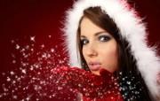 浪漫圣诞美女 欧美圣诞模特美女图片 1920 1200 圣诞模特圣诞美女高清壁纸 节日壁纸