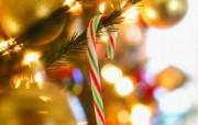 圣诞糖棒图片壁纸 圣诞新年装饰壁纸 节日壁纸
