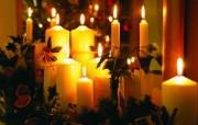 圣诞蜡烛图片壁纸 圣诞新年装饰壁纸 节日壁纸