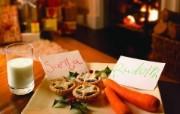 给圣诞老人准备的食物 圣诞新年装饰壁纸 节日壁纸