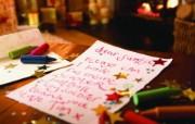 写给圣诞老人的话 圣诞新年装饰壁纸 节日壁纸