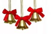金色圣诞铃壁纸 圣诞新年装饰壁纸 节日壁纸