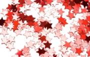 红色星星装饰图片壁纸 圣诞新年装饰壁纸 节日壁纸