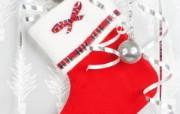 圣诞袜图片壁纸 圣诞新年装饰壁纸 节日壁纸
