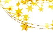 黄色星星装饰壁纸 圣诞新年装饰壁纸 节日壁纸