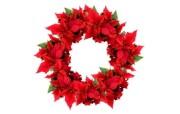 圣诞红花环图片壁纸 圣诞新年装饰壁纸 节日壁纸