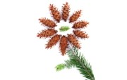 松树和松果摆设图片壁纸 圣诞新年装饰壁纸 节日壁纸