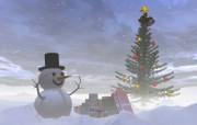 圣诞雪人壁纸 节日壁纸