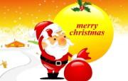 矢量风格圣诞老人壁纸 节日壁纸